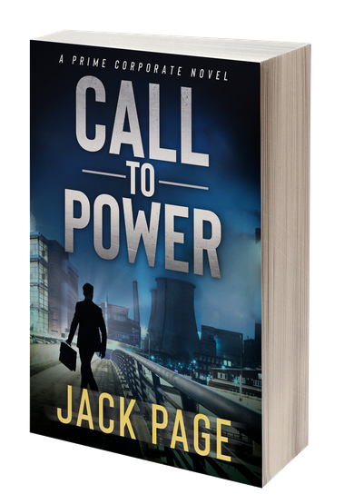 3D-rendnering of the cover of Call to Power, a prime corporate thriller, recent prime business fiction that plays out in the boardroom of a Pittsburgh manufacturing giant